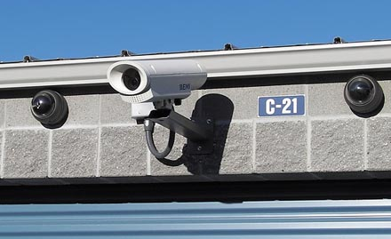 We have security cameras throughout the facility